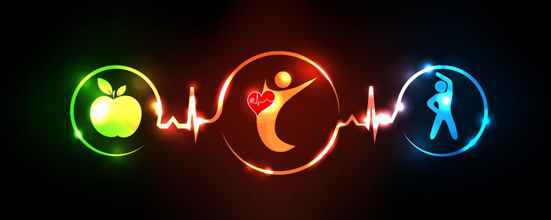 Cardiovascular neon symbols
